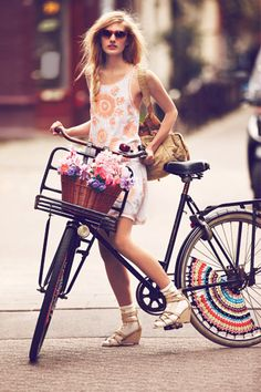 LOVE. Free People does a whole catalog of girls on bikes