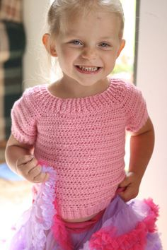 crochet top down sweater | New Pattern: Children's Classic Sweater!