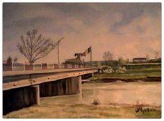 Femlora: Pictor, Grafician: Podul Mihai Bravu - raul Ialomi... Artist, Painting, Artists, Painting Art, Paintings, Amen, Drawings