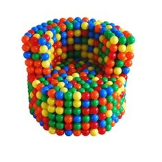 """The Future Perfect's """"Strict"""" chair made from children area's bubbles."""
