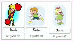 jeu pour demander l'âge. (How old are you?)