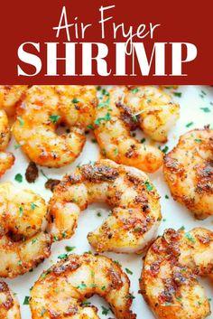 Air Fryer Oven Recipes, Air Frier Recipes, Air Fryer Dinner Recipes, Salmon Recipes, Fish Recipes, Seafood Recipes, Cooking Recipes, Cooked Shrimp Recipes, Sweet Recipes