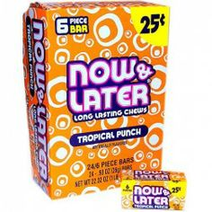 Now and Later Tropical Punch 6 Pieces $0.25 ( Box of 24 Packs )
