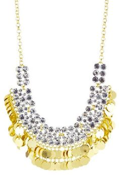 GOLD NECKLACE ACCENTED IN CRYSTAL BOLD BID STYLE!!!