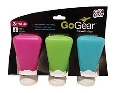 Cool Gear Go-Gear Silicone Squeezable Travel Tubes 3 oz - 3 Pack for Like the Cool Gear Go-Gear Silicone Squeezable Travel Tubes 3 oz - 3 Pack? Holiday Fun, Holiday Gifts, Travel Bottles, Empty Bottles, Cool Gear, Travel Gadgets, Travel Gifts, Travel Luggage, Travel Accessories