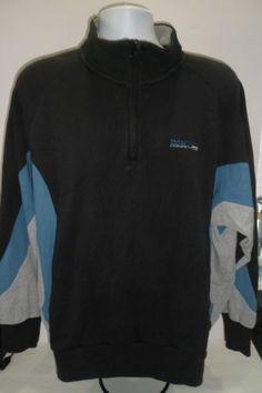 Vintage-90-039-s-Nautica-Competition-1-4-zip-pullover-Blue-Size-Large-L