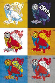Ilustración para camiseta. The Heavy Eyes. 2015. Memphis, Tennessee.