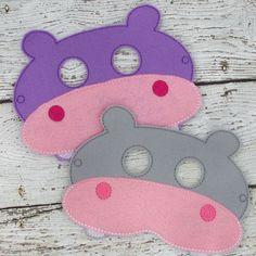 Hippopotamus - Felt Dress Up Masks - Birthday Party Favor Halloween by ArielsCustomDesigns on Etsy