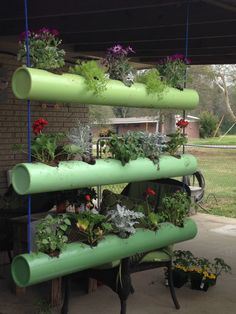 PVC planters by Rusty