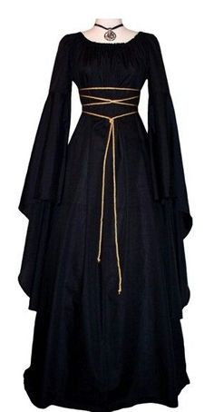 Medieval dress - New Women Fashion Vintage Style Women Medieval Dress Gothic Dress Floor Length Women Cosplay Dress Retro Long Gown Dress – Medieval dress Medieval Clothing, Medieval Fashion, Medieval Gown, Medieval Outfits, Medieval Dress Pattern, Renaissance Dresses, Simple Medieval Dress, Medieval Witch, Renaissance Fair