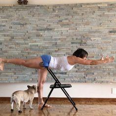 "160 Likes, 5 Comments - Gabi Abalo •ૐ• (@gabiabalo) on Instagram: ""Hoy practique #virabhadrasana3 con la ayuda de esta gran maestra la ""silla"" que me indica como…"""
