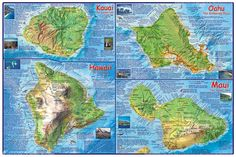 Hawaiian Islands Chain Guide Map  2Pedal Mountain Bike