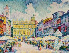 Titre de l'image : Paul Signac - Piazza d' Erbe à Vérone.