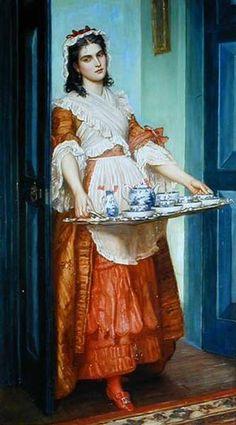 Giclee Print: Time for Tea by Valentine Cameron Prinsep : John Everett Millais, Dante Gabriel Rossetti, Pre Raphaelite, Tea Art, High Society, Fashion Plates, Find Art, Painting & Drawing, Tea Time
