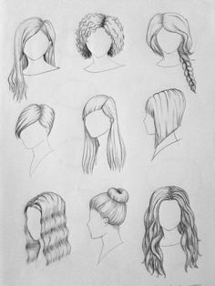 haar zeichnen hair by Coconutterly on deviantART Girl Hair Drawing, Girl Drawing Sketches, Cool Art Drawings, Pencil Art Drawings, Drawing Hair Tutorial, Hair Sketch, Fashion Design Drawings, How To Draw Hair, Drawing Techniques