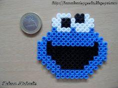 Monstruo de la galletas Easy Perler Bead Patterns, Melty Bead Patterns, Diy Perler Beads, Perler Bead Art, Pearler Beads, Fuse Beads, Beading Patterns, Pearl Beads Pattern, Pixel Beads
