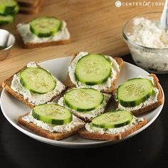 Simple snack or add in for lunch & entertaining - cucumber sandwiches.They take me back to days with my nona.