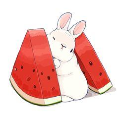 (1) Tweets con contenido multimedia de らいらっく (@pfeasy) / Twitter Cute Kawaii Animals, Cute Animal Drawings Kawaii, Kawaii Art, Kawaii Anime, Kawaii Bunny, Cute Cartoon Animals, Bunny Drawing, Bunny Art, Cute Bunny