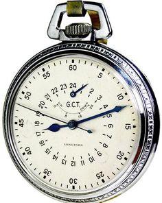 5a4e40d1e Vintage Longines Army Air Corps Navigation Wind Indicator Pocket Watch 18  Size 21 Jewels Circa 1941. BolsasReloj De ...