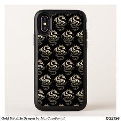 Gold Metallic Dragon OtterBox iPhone Case Iphone 4s, Iphone Wallet, Apple Iphone, Iphone Cases, Synthetic Rubber, Protective Cases, Portal, Metallic, Dragon