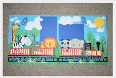 train zoo scrapbook