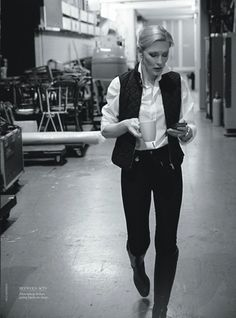 "Cate Blanchett (as someone described it on tumblr, ""lesbian Han Solo"")"