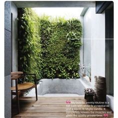 via @decorum_interior_design: The quote on the image isn't mine but sadly the bath tub isn't mine either #architect #architecture #architectureporn #architectureporn #interior #interiordesign #interiordesigner #decor #design #designporn #dezeen #decorao #details #bathroom #bath #outdoor #greenwall #sustainable