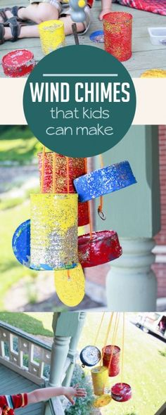 I love these wind chimes the kids can make!