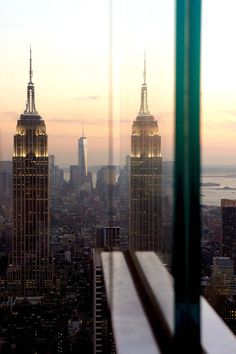 The Empire State Building Reflected in Glass #nyc #ny #photography
