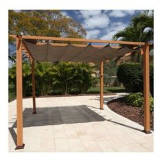 22 Awesome Pergola Patio Ideas | Patio landscaping Small Garden Pergola, Pergola Ideas For Patio, Pergola Decorations, Curved Pergola, Pergola Curtains, Metal Pergola, Deck With Pergola, Pergola Lighting, Trendy Tree