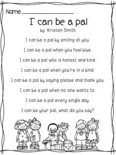 poems for kids about friends - Google Search