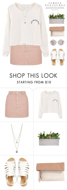 """""""rant rant rant"""" by my-pink-wings ❤ liked on Polyvore featuring Topshop, Dorothy Perkins, Pieces, Pietro Alessandro and Le Specs"""