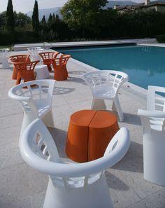 Mobilier hotel bar restaurant terrasse fauteuil Flower