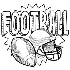 Football Coloring Page Free Coloring Pages Pinterest Bowls