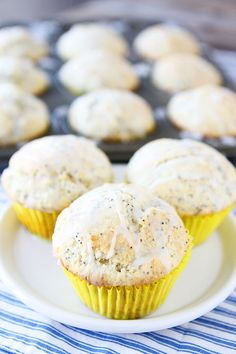 Lemon Poppy Seed Muffins Recipe on twopeasandtheirpod.com A great way to start the day!