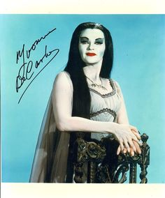 "Autographed Yvonne de Carlo Lily Munster ""The Munsters"""
