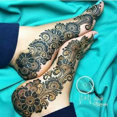 90 Beautiful Leg Mehndi Designs for every occasion - Henna - Henna Designs Hand Leg Henna Designs, Khafif Mehndi Design, Mehndi Designs For Girls, Mehndi Designs 2018, Modern Mehndi Designs, Dulhan Mehndi Designs, Mehndi Design Photos, Wedding Mehndi Designs, Mehndi Designs For Hands