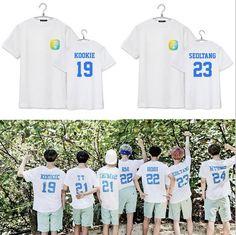 2015 Kpop BTS Group Tops Men Tops & Tees BTS SUMMER PACKAGE Cotton T Shirt Women & Men Fashion Design Men's T-Shirt Printed