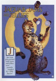 Scott Gustafson Letter J - Jaguar, Jams and Jellies - Alphabet Soup Book