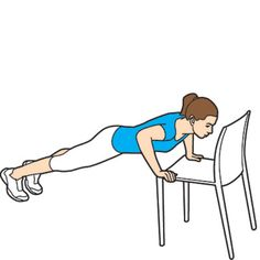 Easy chair moves  - Who says you have to slog away on that stairmaster to get a killer body? Transform your chair into a total-body toner.