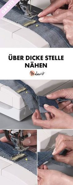Sewing trick: sewing over thick areas - Sewing tips and tricks v .- Näh-Trick: Über dicke Stellen nähen – Näh-Tipps und Tricks via Makerist.de Sewing trick: sewing over thick areas – sewing tips and tricks via Makerist. Sewing Projects For Beginners, Knitting For Beginners, Sewing Tutorials, Sewing Hacks, Sewing Tips, Tutorial Sewing, Easy Knitting, Diy Projects, Sewing Patterns Free