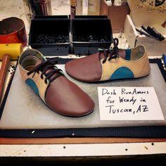 Dash RunAmocs in Nutmeg, Parsnip and Turquoise #custom #shoes
