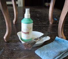 13 Create-an-Aged-Copper-Finish-Oak-Table-Oxidized-Patina