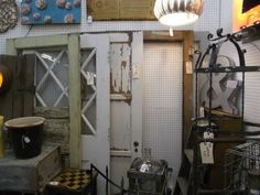 Prices starting at $85.00- We have 5 different style wood doors. Some with glass, some with original hardware. Painted, chippy paint, come take a look. ***** In Booth D1 at Main Street Antique Mall 7260 E Main St (east of Power RD on MAIN STREET) Mesa Az 85207 **** Open 7 days a week 10:00AM-5:30PM **** Call for more information 480 924 1122 **** We Accept cash, debit, VISA,