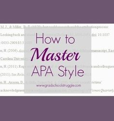 Strategies for Mastering APA Style