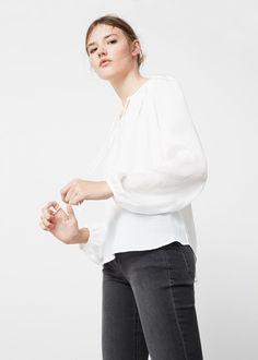 Braided cord blouse - Women | MANGO USA
