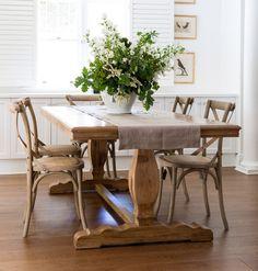 Set of 2 Oak Cross Back Chairs
