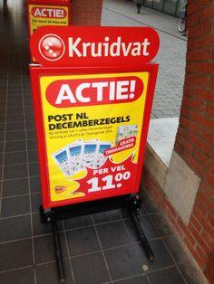 Dit is dezelfde reclame als die van PostNL, maar deze reclame valt veel meer op, ze hebben gebruik gemaakt van plaatjes en een opvallende tekst.