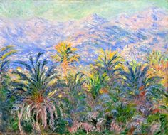 Claude Monet. Palm Trees at Bordighera (1884).