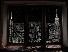 Con estas persianas parece que vives en un ático viendo la ciudad de noche - Marcianos.com